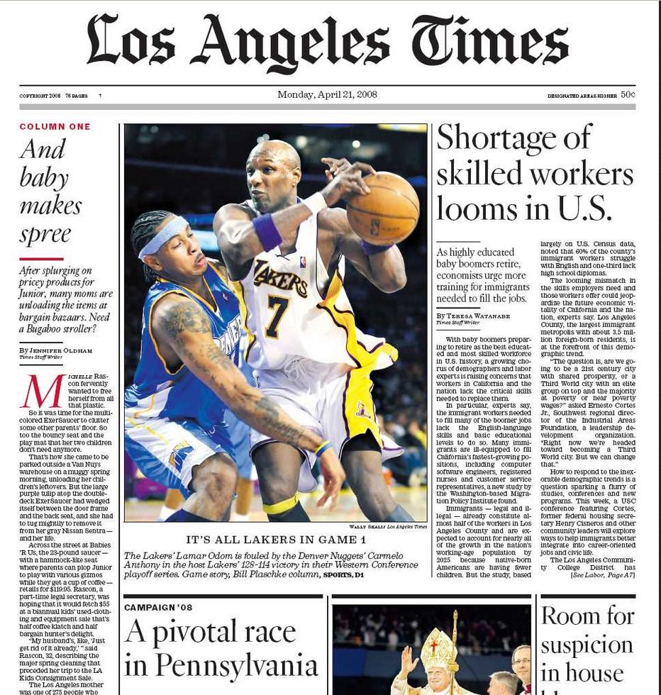 PERM Advertising LA Times