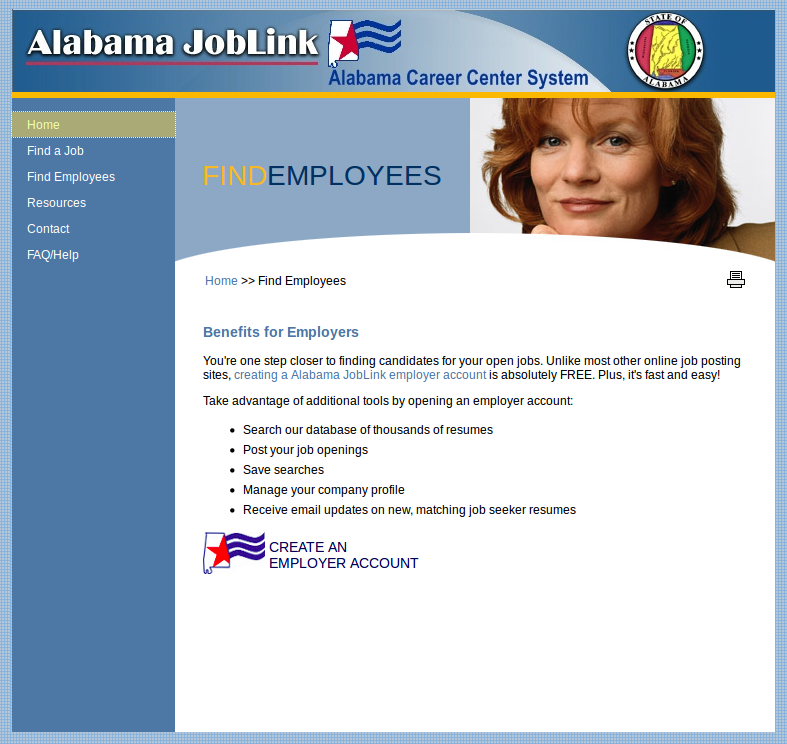 Alabama State Workforce Authority SWA Job Order