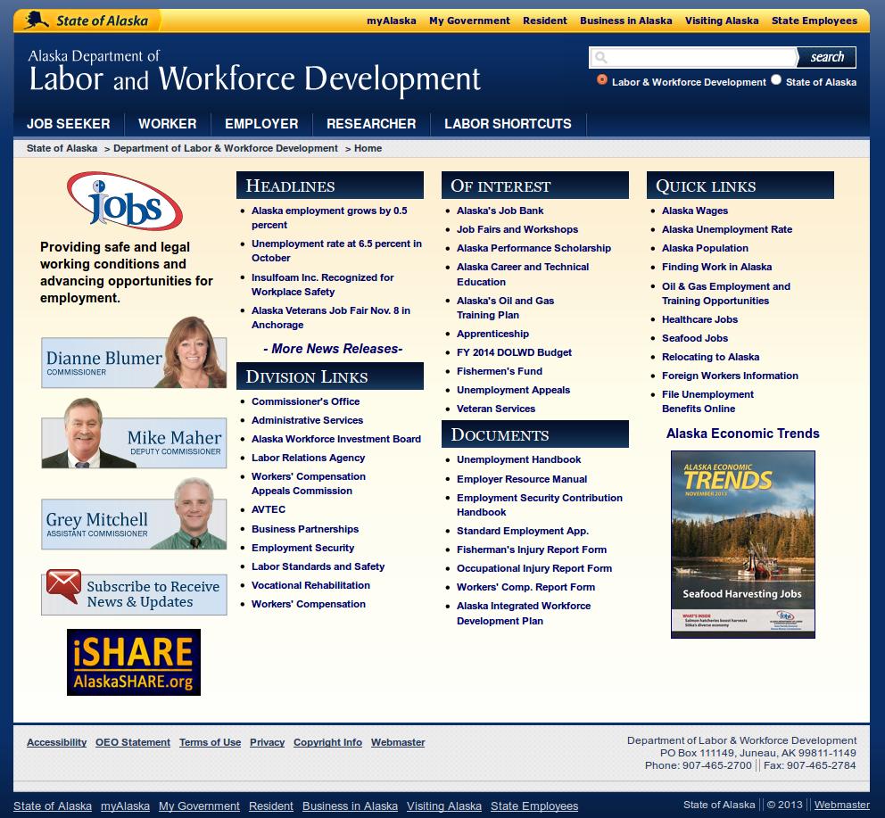 Alaska SWA Job Order PERM Ads Immigration Advertising