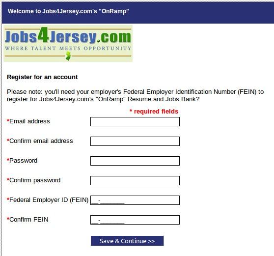 New Jersey SWA Job Order Website