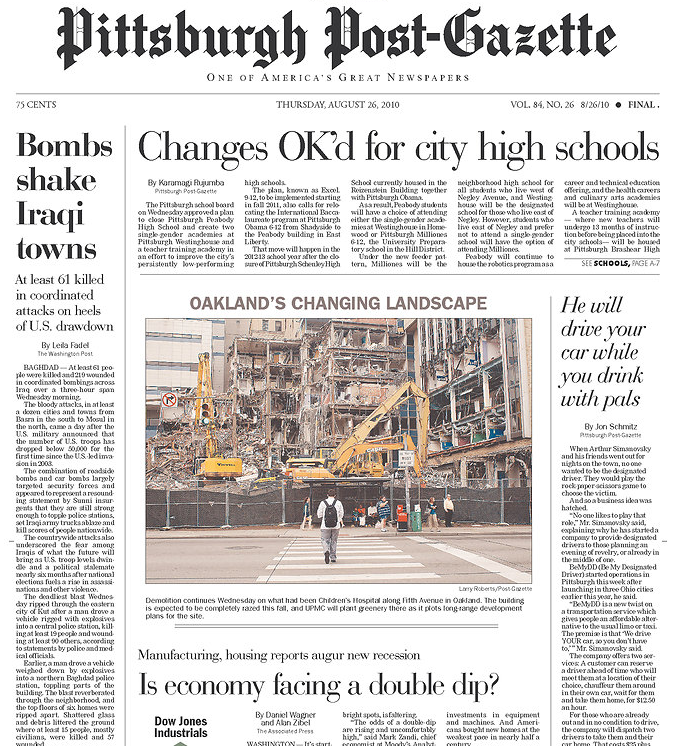 PERM Advertising Pittsburgh Post-Gazette