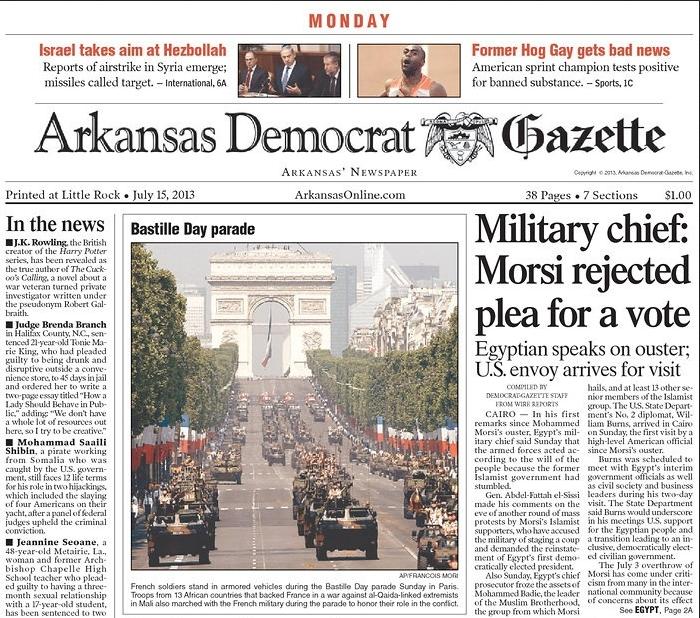 PERM Advertising Arkansas Democrat-Gazette