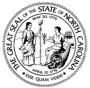 Official Seal of the State of North Carolina