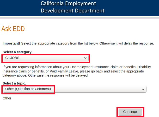 SWA JOB ORDER CALIFORNIA ASK EDD ONLINE FORM