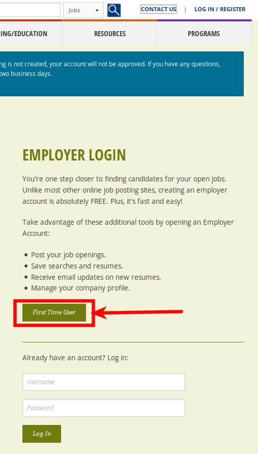 SWA Job Order Arizona Employer Registration