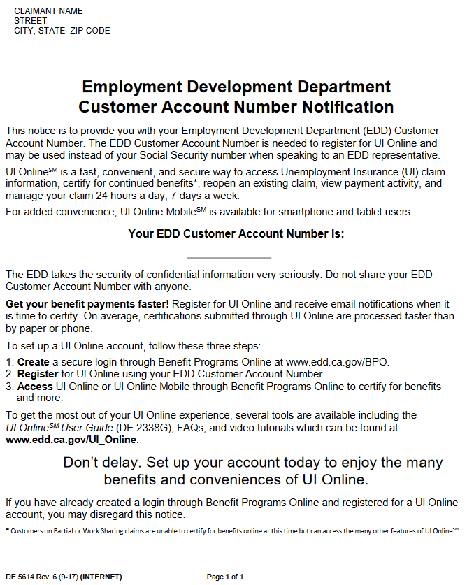 DE 5614 EDD NUMBER PERM RECRUITMENT PERM ADS